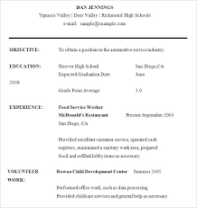 Best High School Resume Template Free Templates For Students Sample