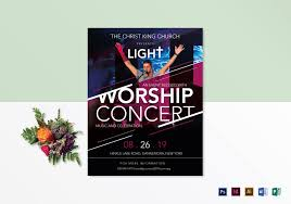 Concert Flyer Template For Word Church Worship Concert Flyer Design Template In Psd Word Publisher