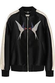 cara delevingne s fails to impress as kendall jenner goes for stella mccartney lorinda appliquéd woven satin er jacket