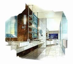 bathroom interior design sketches. Interior Design Sketches, Rendering, Perspective Sketch, Plants, Sketch Inspiration, Bathroom Interior, Modern Houses, Toilet, Copic Sketches A