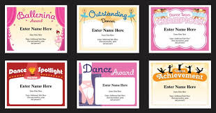 Dance Award Certificate Dance Certificate Templates Dancing Award Certificates