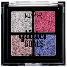 NYX <b>Палетка глиттеров</b> Glitter Goals Quad Pro Palette — купить ...