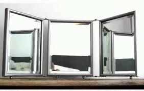 trifold mirror tri fold floor standing mirror gold full length mirror