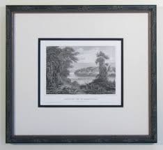 antique frame. Antique Engraving Of The St. Croix River In An Ornate Frame T