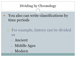 classification essay dividing