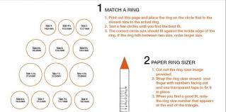Ring Size Chart Online Actual Size Finger Size Ring Size Tq Diamonds