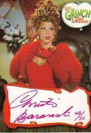 christine baranski grinch. Contemporary Christine Cmo El Grinch Stole Christmas Christine Baranski Autgrafo Tarjeta BA1  Rojo 4350  EBay To O