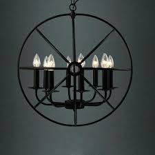 black orb chandelier industrial led in with globe cage 8 light and gold black orb chandelier globe chandeliers lighting