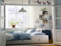 Resplendent Small Room Ideas Added Single Bed With Drawers Storage Also  Wall Mount Shelves Study Desk Also Pendant Lights In Boys Small Bedroom  Ideas