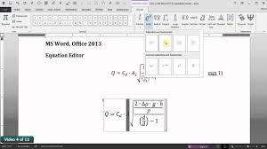 ms word 2016 equation editor