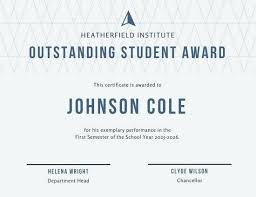 Student Of The Month Certificate Templates Student Of The Month Word Certificate Template Pdf