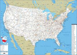 United States Map (Road) - Worldometer