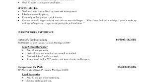 Server Resume Examples Sample Bartender Resume Examples 4