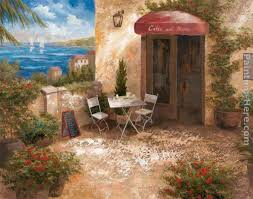 vivian flasch caffe sul mare painting