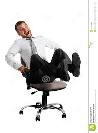 wheeled office chair. Merry Businessman Rolling On The Office Chair Wheeled