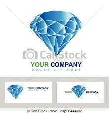 diamond or jewelry business logo csp26444092
