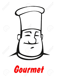 Cartoon Smiling Friendly Chef In Traditional Toque For Restaurant Logo Dessin Restaurant Cuisinier Toque L