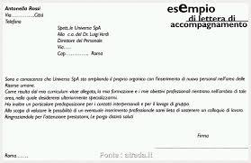 Lettera Di Presentazione Lettera Di Presentazione C V Atrada Briliant Esempio