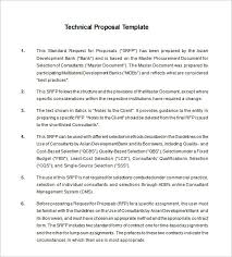 Technical Proposal Templates Technical Proposal Templates 21 Free Sample Example Format
