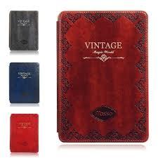 mosiso vine retro book style case for ipad mini 4 slim smart case stand cover