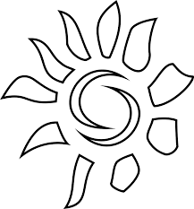sun icon coloring book