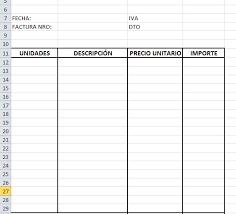formato para facturas en excel tutoriales excel ejemplo de factura en excel 2010