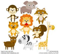 wild animals clipart. Simple Animals On Wild Animals Clipart