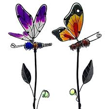 dragonfly garden stakes. Dragonflies Garden Ornaments Decorative Butterfly And Dragonfly Stakes Handmade Yard Art Ideal For Outdoor . F