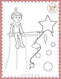 Elf On The Shelf Printable Coloring Page Elf On The Shelf Coloring