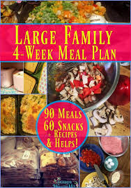 Large Family 4 Week Meal Plan Family Large Family Meals Budget