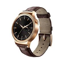 huawei watch rose gold. huawei watch - rose gold stainless steel with brown leather strap