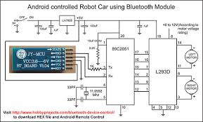 rc car circuit diagram the wiring diagram simple android bluetooth remote control project for robot robo car circuit diagram