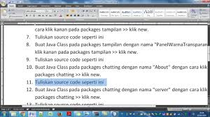 tutorial aplikasi chatting client server java netbeans tutorial aplikasi chatting client server java netbeans