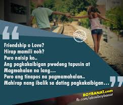 Tagalog Quotes About Love And Friendship Custom Falling In Love With A Friend Who Can't Love You Back Boy Banat