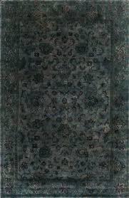 grey overdyed rug dark grey wool rug overdyed gray wool rug