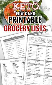 Keto Chart Printable Keto Diet For Beginners With Printable Low Carb Food Lists