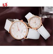man women watch simple leather strap ultra thin watches promotion design clock v311