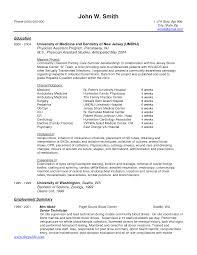 Recent Graduatesume Cv Template Nursing Examples New Samples