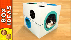 diy cat bed dice craft ideas for kids on box yourself