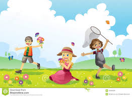 happy children in spring season royalty stock image image royalty stock photo happy children in spring season