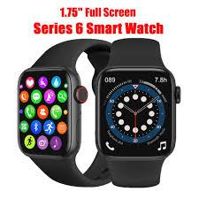 W27 Đồng hồ thông minh 1.75 Inch Series 6 Toàn màn hình cảm ứng Bluetooth  Call GPS Music Iwo 15 Smart Watch FK78 W26 HW12 W34 T500 tại Nước ngoài