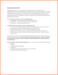 4 Example Of Cv For Graduate School Bussines Proposal 2017