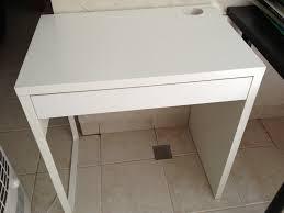 pretty ikea micke desk i white with single drawer for study room furniture ideas