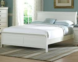 Full Size Bed Frame And Mattress Set White Wood Full Size Bed ...