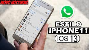 WHATSAPP ESTILO IPHONE 11 para ANDROID   Tema Oscuro o Blanco – JB Tech