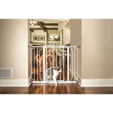 Carlson Pet Products 30 in Walk-Through Pet Gate w/ Small Pet Door ...