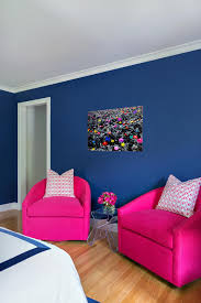 furniture for teenage rooms. Teen Bedroom With Two Pink Chairs And Blue Wall Painting White Bed Furniture For Teenage Rooms
