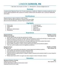 Resume Template For Registered Nurse Impressive Nursing Resumes Templates Funfpandroidco