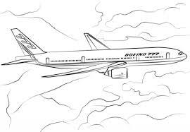 Boeing 777 200 Kleurplaat Kleurplaten Jongens Coloring Airplane