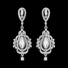 vintage style chandelier bridal earrings wedding